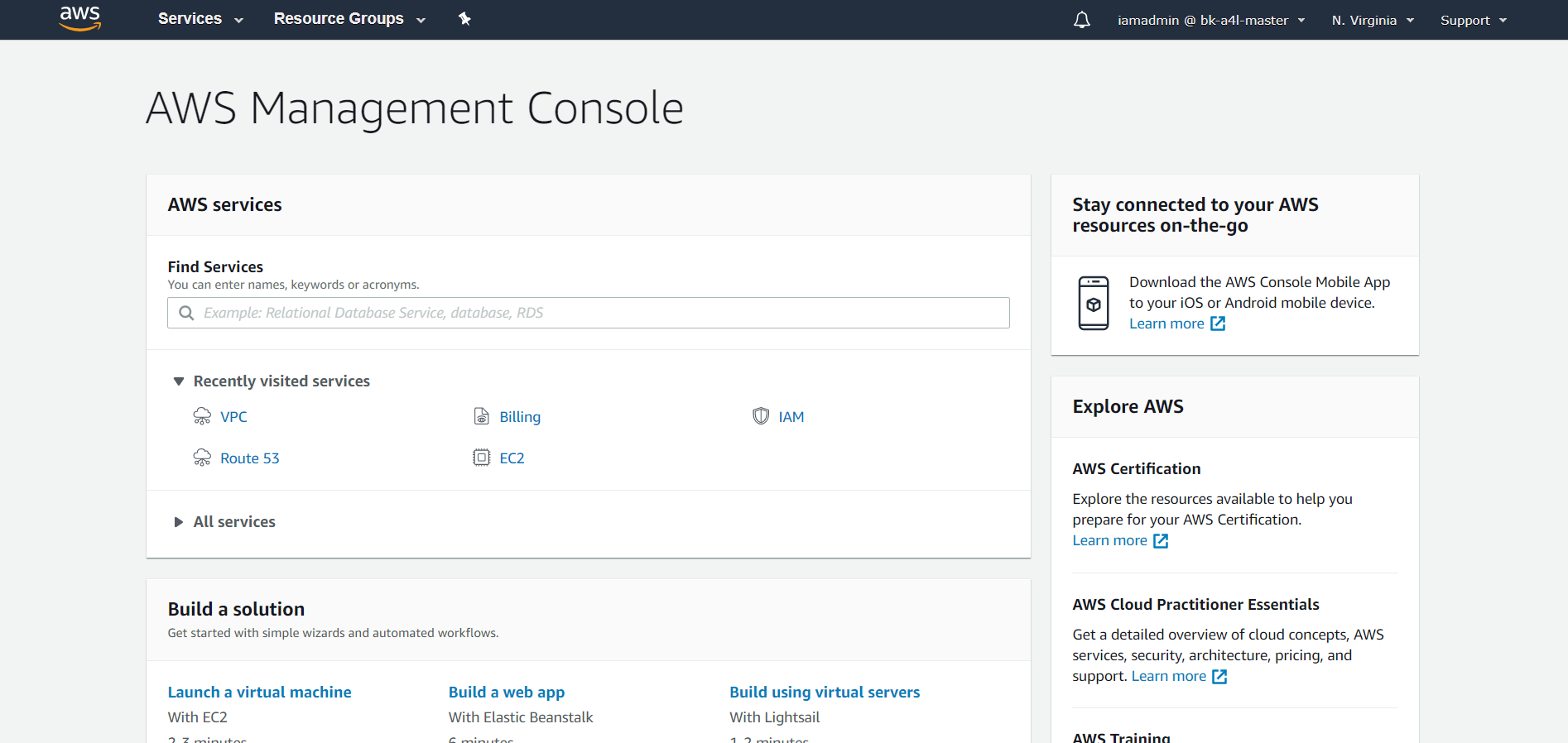 Login to AWS management console