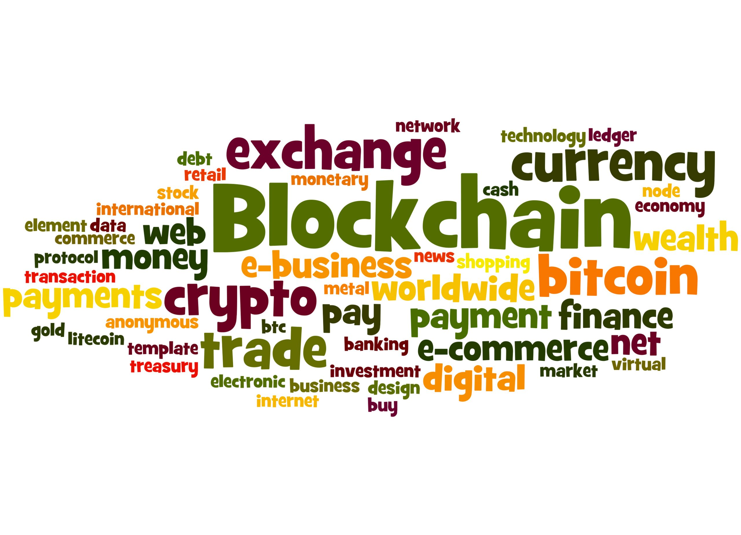 Blockchain, Word Cloud Concept