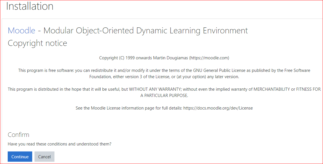 installation moodle