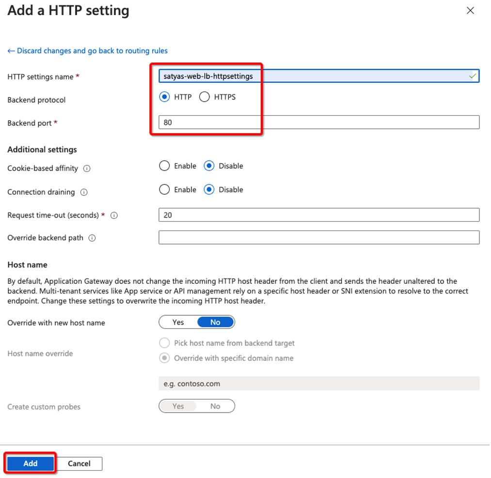 HTTP Setting