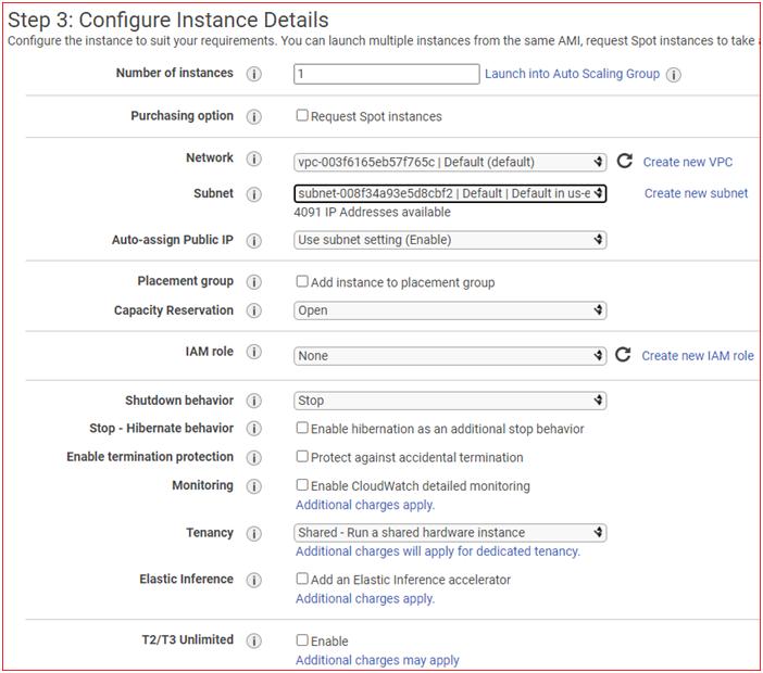 Configure Instance